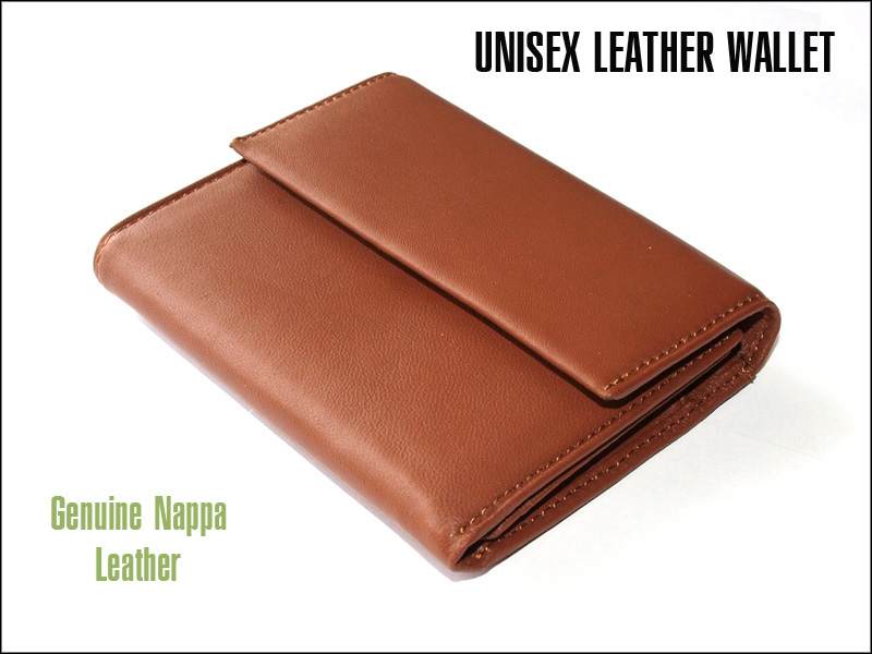 Brown Leather Wallet / Cardholder (Unisex) in Gift Box
