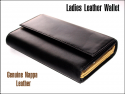 Exquisite Ladies' Black Leather Wallet / Purse